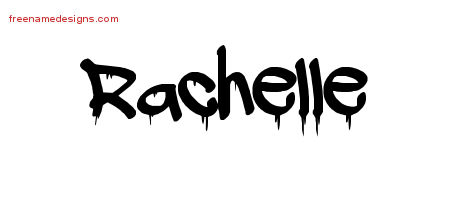 Graffiti Name Tattoo Designs Rachelle Free Lettering