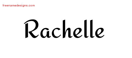 Calligraphic Stylish Name Tattoo Designs Rachelle Download Free