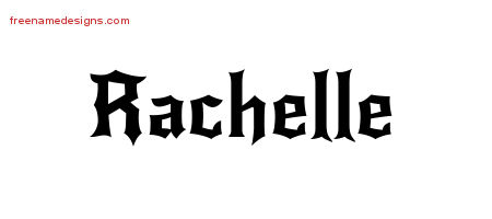 Gothic Name Tattoo Designs Rachelle Free Graphic