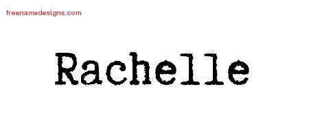 Typewriter Name Tattoo Designs Rachelle Free Download