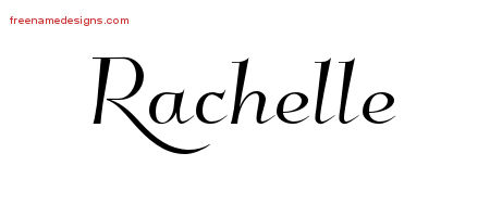 Elegant Name Tattoo Designs Rachelle Free Graphic