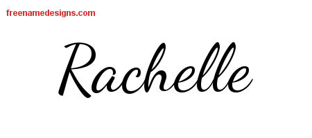 Lively Script Name Tattoo Designs Rachelle Free Printout