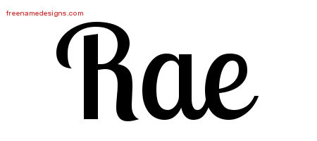 Handwritten Name Tattoo Designs Rae Free Download