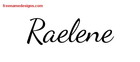 Lively Script Name Tattoo Designs Raelene Free Printout