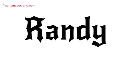 Gothic Name Tattoo Designs Randy Download Free