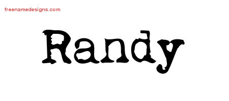 Vintage Writer Name Tattoo Designs Randy Free Lettering