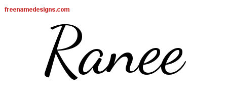 Lively Script Name Tattoo Designs Ranee Free Printout