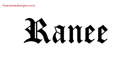Blackletter Name Tattoo Designs Ranee Graphic Download