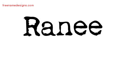 Vintage Writer Name Tattoo Designs Ranee Free Lettering