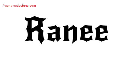 Gothic Name Tattoo Designs Ranee Free Graphic