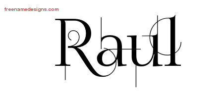 9c40453a1 Decorated Name Tattoo Designs Raul Free Lettering - Free Name Designs