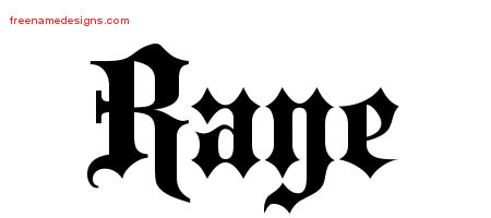 Old English Name Tattoo Designs Raye Free