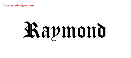 Blackletter Name Tattoo Designs Raymond Graphic Download
