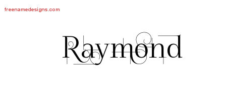 Decorated Name Tattoo Designs Raymond Free Lettering