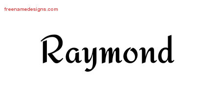 Calligraphic Stylish Name Tattoo Designs Raymond Free Graphic