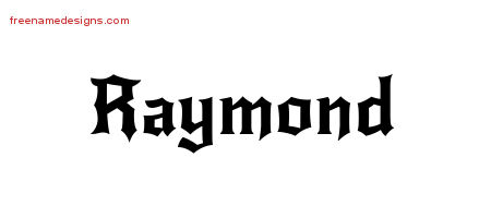Gothic Name Tattoo Designs Raymond Free Graphic