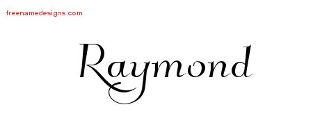 Elegant Name Tattoo Designs Raymond Download Free