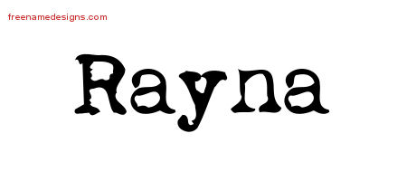 Vintage Writer Name Tattoo Designs Rayna Free Lettering