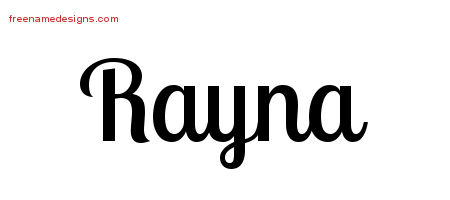 Handwritten Name Tattoo Designs Rayna Free Download