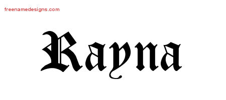Blackletter Name Tattoo Designs Rayna Graphic Download