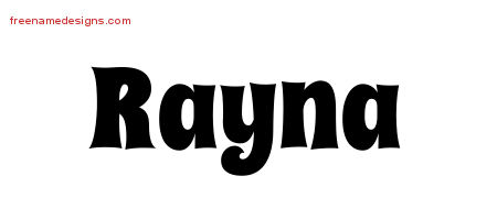 Groovy Name Tattoo Designs Rayna Free Lettering