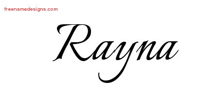 Calligraphic Name Tattoo Designs Rayna Download Free