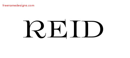 reid name. flourishes name tattoo designs reid graphic download