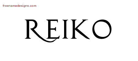 Regal Victorian Name Tattoo Designs Reiko Graphic Download