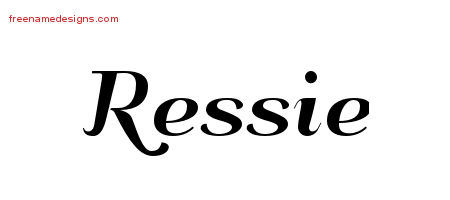 Art Deco Name Tattoo Designs Ressie Printable