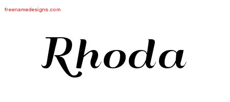Art Deco Name Tattoo Designs Rhoda Printable