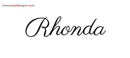 Classic Name Tattoo Designs Rhonda Graphic Download