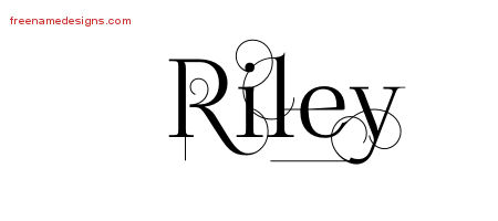 Decorated Name Tattoo Designs Riley Free