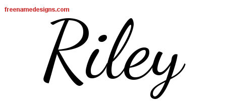 Lively Script Name Tattoo Designs Riley Free Download