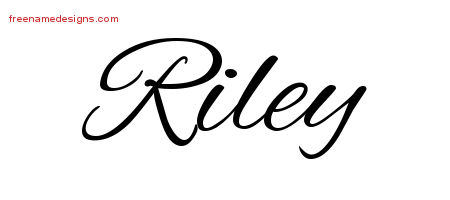 Cursive Name Tattoo Designs Riley Free Graphic