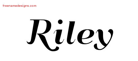 Art Deco Name Tattoo Designs Riley Graphic Download