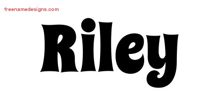 Groovy Name Tattoo Designs Riley Free Lettering