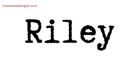 Typewriter Name Tattoo Designs Riley Free Download