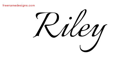 Calligraphic Name Tattoo Designs Riley Free Graphic