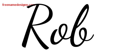 Lively Script Name Tattoo Designs Rob Free Download