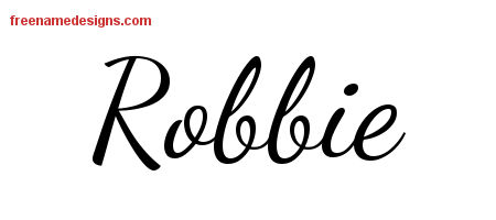 Lively Script Name Tattoo Designs Robbie Free Printout