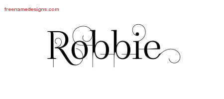 Decorated Name Tattoo Designs Robbie Free