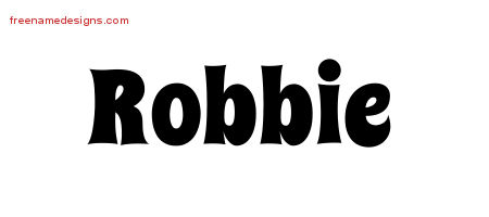 Groovy Name Tattoo Designs Robbie Free