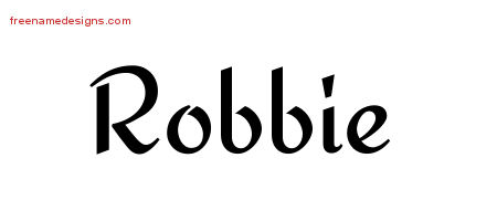 Calligraphic Stylish Name Tattoo Designs Robbie Free Graphic