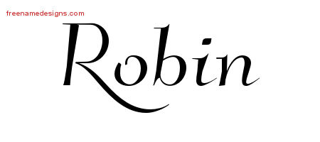 Elegant Name Tattoo Designs Robin Free Graphic