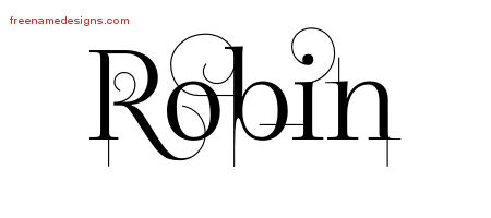 Decorated Name Tattoo Designs Robin Free