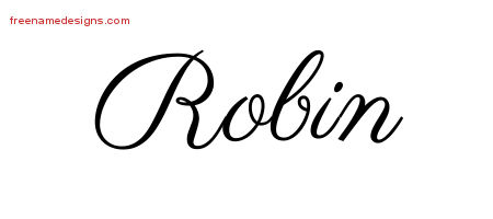 Classic Name Tattoo Designs Robin Printable