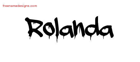 Graffiti Name Tattoo Designs Rolanda Free Lettering