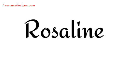 Calligraphic Stylish Name Tattoo Designs Rosaline Download Free