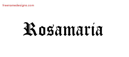 Blackletter Name Tattoo Designs Rosamaria Graphic Download