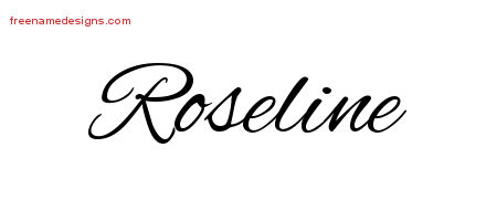 Cursive Name Tattoo Designs Roseline Download Free
